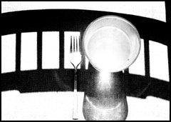 Gregory Stringfield Artwork Fork and Glass, 1986 Silver Gelatin Photograph, Abstract
