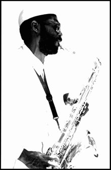 Gregory Stringfield Artwork Sax Man, 1989 Silver Gelatin Photograph, Portrait