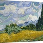 wheat field and cypresses By Andrew Giffen