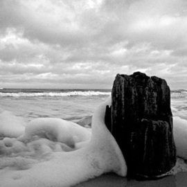 Thomas Gulla: 'Tsunami X', 2008 Black and White Photograph, Landscape. Artist Description: Limited Edition Signed and Numbered of 10 Prints. ...
