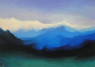 Painting by Roman Gumanyuk titled: Mountains of Pamir, created in 2005