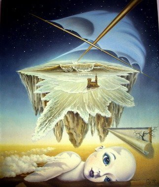 Gyuri Lohmuller: 'Open eyes dreaming', 2007 Oil Painting, Surrealism. The original was sold.Upon  request, I can paint a similar theme more or less accurate than the original. Please contact me to order....