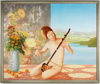 Tom S. Hageman Artwork Chinese violin, 2013 Oil Painting, Figurative