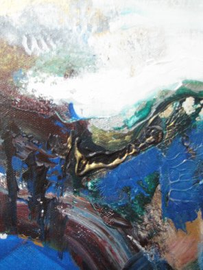 Artist: Hajni Yosifov - Title: Blue Crystal - Medium: Acrylic Painting - Year: 2012