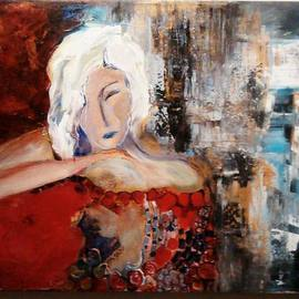 Hajni Yosifov Artwork The Dreamer, 2015 Acrylic Painting, Abstract Figurative