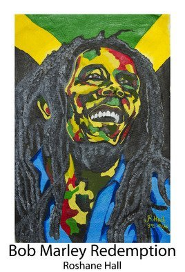Roshane Hall: 'bob marley redemption', 2017 Acrylic Painting, Abstract.