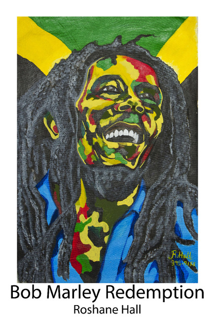 Roshane Hall  'Bob Marley Redemption', created in 2017, Original Painting Acrylic.