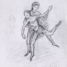 Hana Grosova Artwork Dancers, 2012 Pencil Drawing, Dance