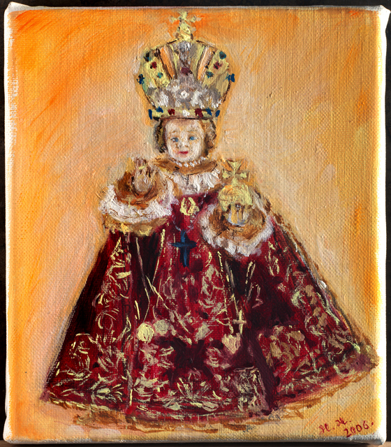 Hana Grosova  'Enfant Jesus Of Prague', created in 2006, Original Painting Oil.