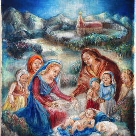 Holy family painting By Hana Grosova