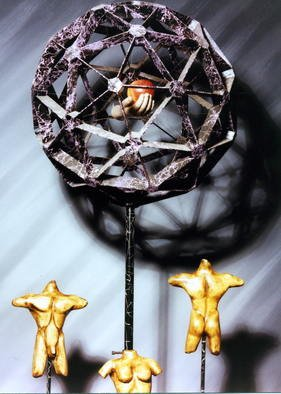 Paul Fucci: 'Morals and Dogma', 1996 Mixed Media Sculpture, Philosophy.  Discordian sculpture...