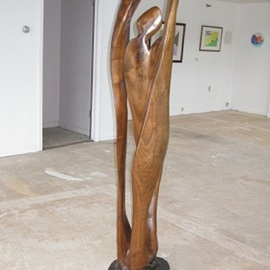 Harold Gubnitsky Artwork A trois Trois, 2006 Wood Sculpture, Abstract