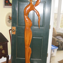 Harold Gubnitsky: 'big skinny3', 2011 Wood Sculpture, Abstract Figurative. Artist Description:      wood sculpture pine            ...
