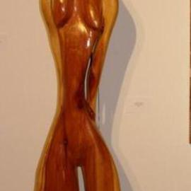 Harold Gubnitsky: 'big skinny 7 red cedar', 2011 Wood Sculpture, Abstract Figurative. Artist Description:     wood sculpture red cedar           ...