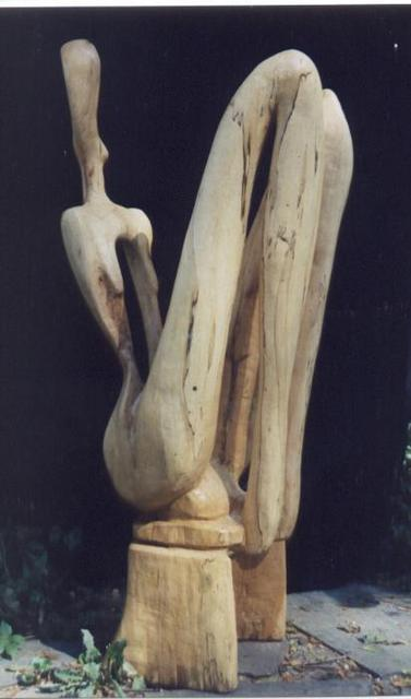Harold Gubnitsky  'Seated Figure Maple', created in 2011, Original Painting Acrylic.