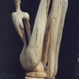 Harold Gubnitsky: 'seated figure maple', 2011 Wood Sculpture, Abstract Figurative. Artist Description:         wood sculpture maple               ...