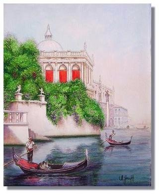 I. Joseph Artwork Along the Grand Canal, 2008 Watercolor, Architecture