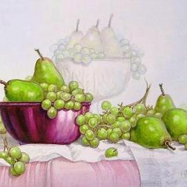 Green Grapes and Green Pears