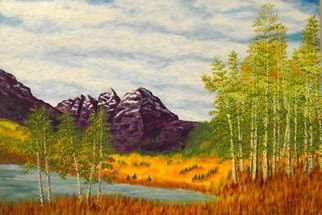 Landscape Acrylic Painting by Donald Harter Title: Purple Mountains Majesty, created in 2007