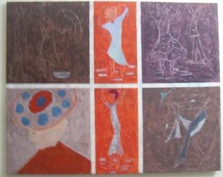Artist: Ahmed El Haski - Title: creationes - Medium: Acrylic Painting - Year: 2011