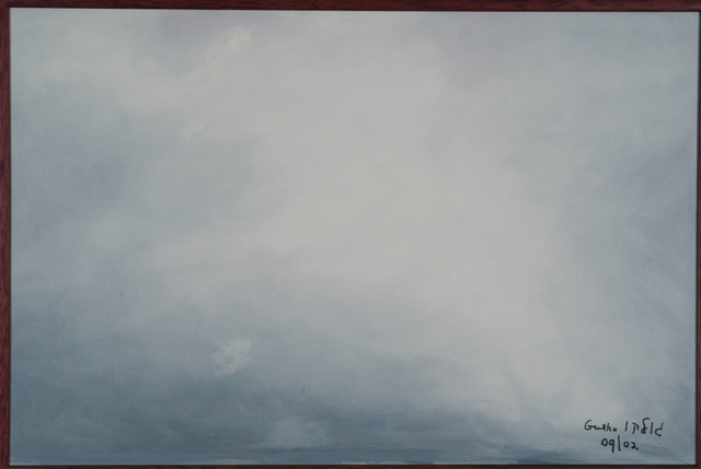 Harris Gulko  'Clouds Over Jerusalem', created in 2002, Original Painting Ink.