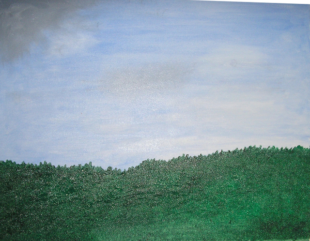Harris Gulko  'Field And Sky In Jerusalem', created in 2006, Original Painting Ink.