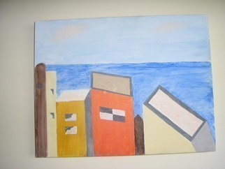 Harris Gulko: 'Houses in Jaffa', 2006 Oil Painting, Home. Houses at the seashore in Jaffa , Israel   file 6203...