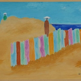 Harris Gulko: 'IN THE SANDS', 2003 Oil Painting, Beach. Artist Description: file 1154 In the sandS...