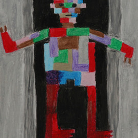 Harris Gulko: 'mechanical man', 2001 Oil Painting, Children. Artist Description: aEURoeNot until a machine can write a sonnet or compose a concerto because of thoughts and emotions felt, and not by the chance fall of symbols, could we agree that MACHINE equals BRAIN aEUR
