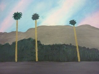 Harris Gulko: 'three palm trees', 2007 Oil Painting, Trees. Three Palm Trees in Florida File 908...