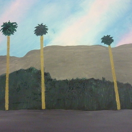 three palm trees By Harris Gulko