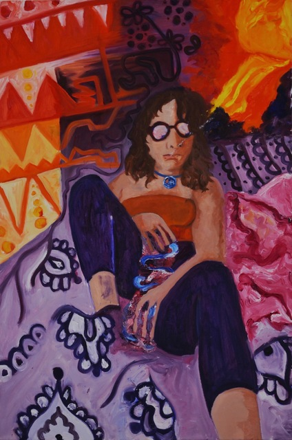 Hannah Weissman  'Bong In Bed', created in 2019, Original Painting Other.