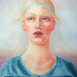 Heather Hyatt: 'Breathe', 2012 Oil Painting, Portrait.