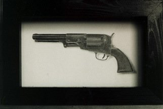 Pencil Drawing by Heather Hyatt titled: Colt 45, 1995
