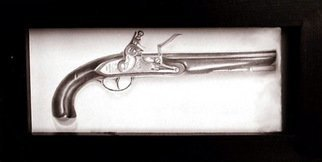 Still Life Pencil Drawing by Heather Hyatt Title: Flintlock, created in 1995