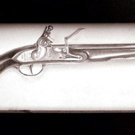 Heather Hyatt Artwork Flintlock, 1995 Pencil Drawing, Still Life