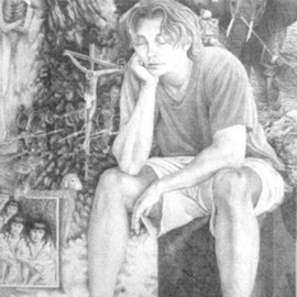 Heather Hyatt Artwork Reason Sleeping Brings Forth Monsters, 2005 Pencil Drawing, Political