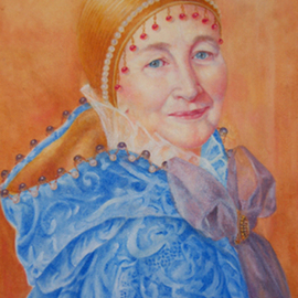 Heather Hyatt: 'Sheila In Costume', 2010 Oil Painting, Portrait. Artist Description:   A portrait of a lady in historical costume.  ...