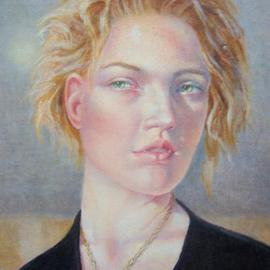 Heather Hyatt: 'Timekeeper', 2013 Oil Painting, Portrait.