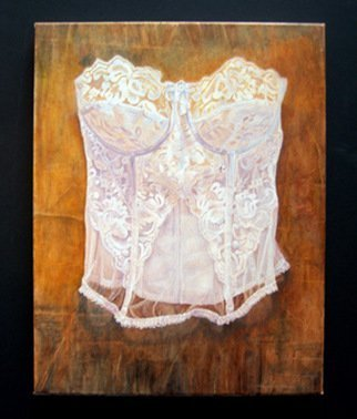 Heather Hyatt Artwork White Bustier, 2008 Oil Painting, Still Life