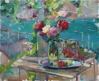 Olesya Smirnova: 'midday in the crimea', 2017 Oil Painting, Still Life. Artist Description: The still life is created on an open- air in the solar Crimea...