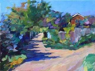 Olesya Smirnova: 'spring in the village', 2016 Oil Painting, Landscape. Artist Description: Sunny day on the rural street. The picture is made on an open- air...