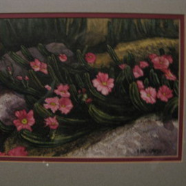 Heidi Bacon Artwork Cactus in Bloom, 1994 Giclee, Floral