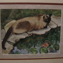 Heidi Bacon Artwork Pond Pals, 1988 Giclee, Cats