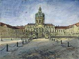 Heinz Sterzenbach  'Castle Of Charlottenburg', created in 1994, Original Mixed Media.