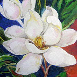 Helen Hachmeister Artwork magnolia, 2009 Acrylic Painting, Floral