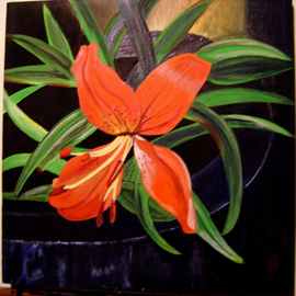 Helen Hachmeister Artwork orange lily, 2009 Acrylic Painting, Floral