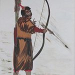 Mongol bowhunter, archer By Elena Zhogina