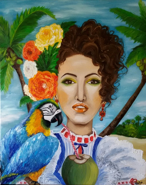 Helen Bellart  'Caribbean Woman ', created in 2015, Original Painting Oil.