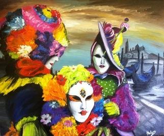 Artist: Helen Duchonova - Title: Carnival in Venice - Medium: Oil Painting - Year: 2013